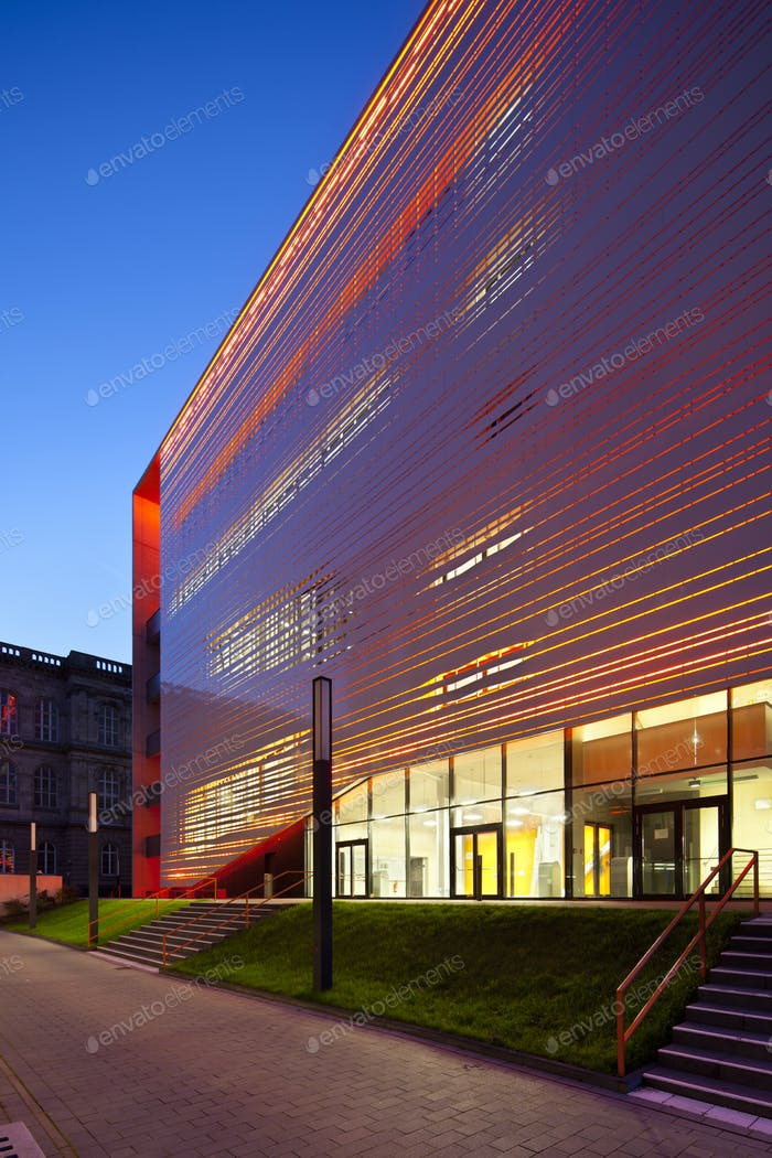 Red Aachen University Building, Germany