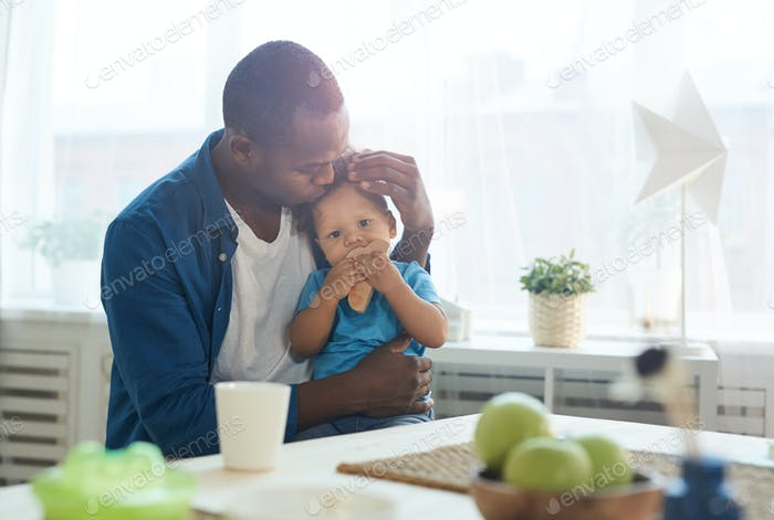 Stay at Home Father with Baby Boy