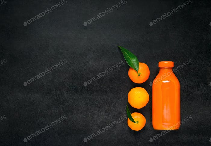 Oranges and Juice on Copy Space