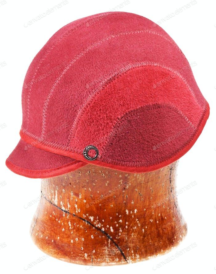 felt red soft cap