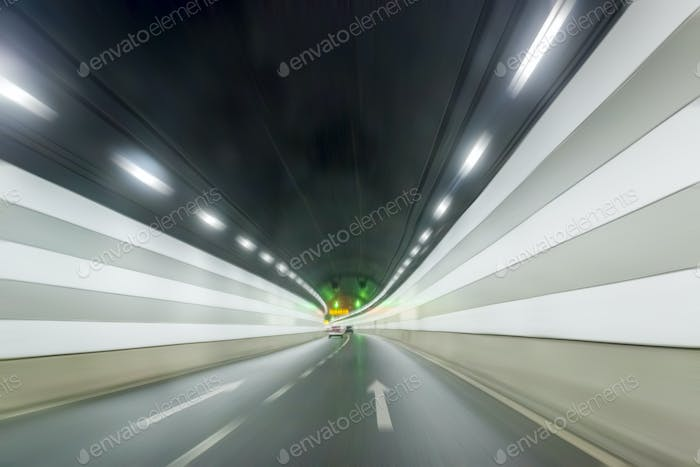 underwater tunnel interior