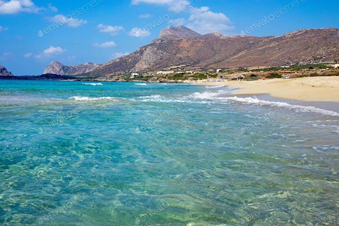 Beach on Crete island