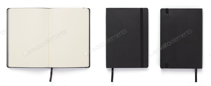 paper notebook or note pad isolated at white
