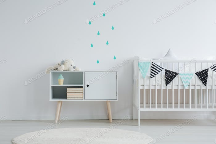 Wall stickers in baby room
