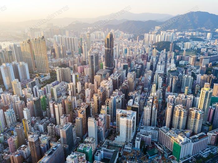 Kompakte Stadt Hong Kong