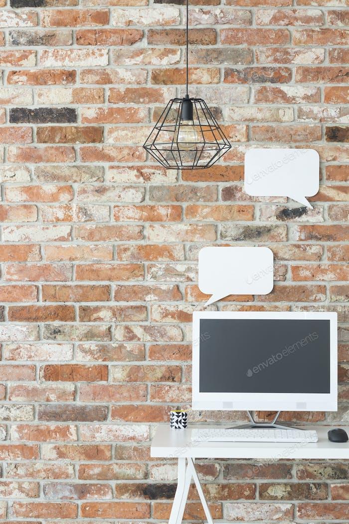 Industrial home workspace
