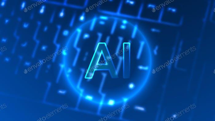 Neon AI en un teclado