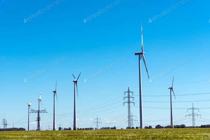 Wind energy and power transmission lines in Germany