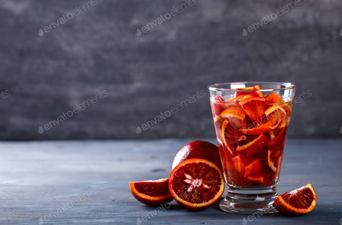 Detox Infused Water with orange.Healthy Beverage.