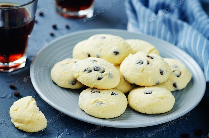 Chocolate chips cream cheese cookies