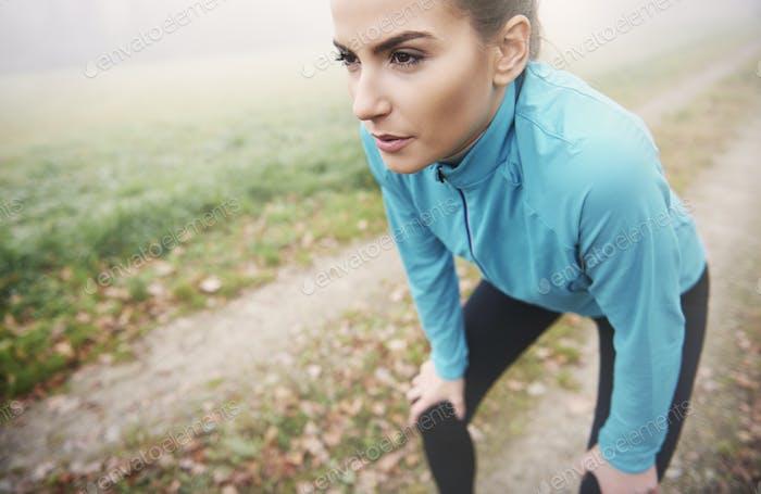 Das Laufen am Morgen ist anstrengend, aber es ist ein Kick für den Rest des Tages