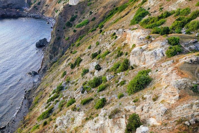 Felsenküste am Kap Fiolent. Krim