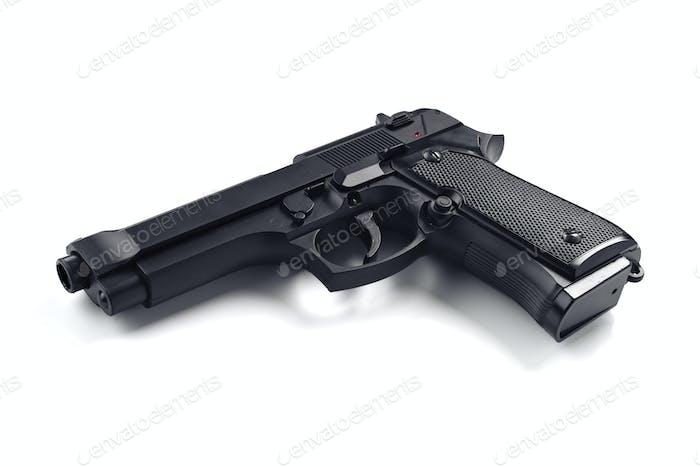realistische Metallimitation einer echten Pistole