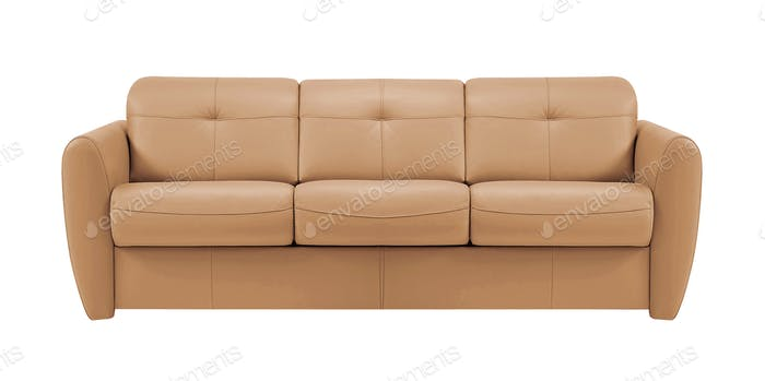 sofa isolated on white