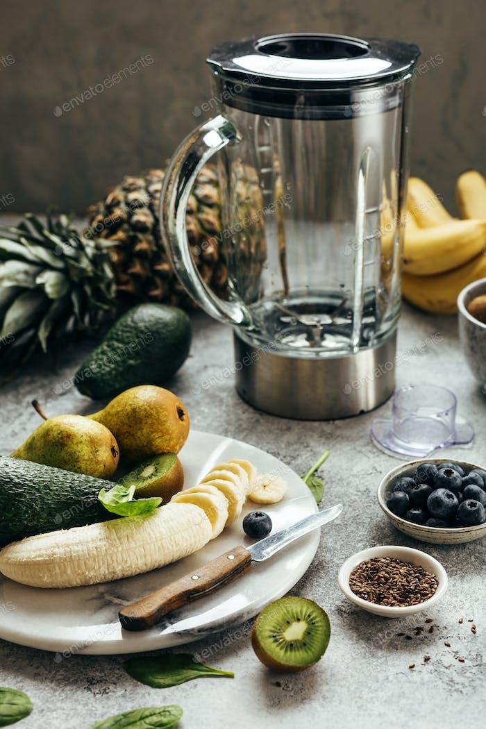 Prozess der Herstellung von Frucht-Smoothies