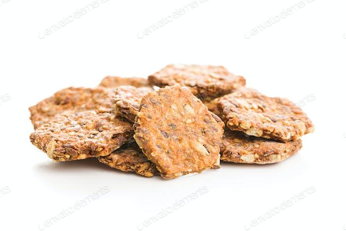 Salted crispy crackers.