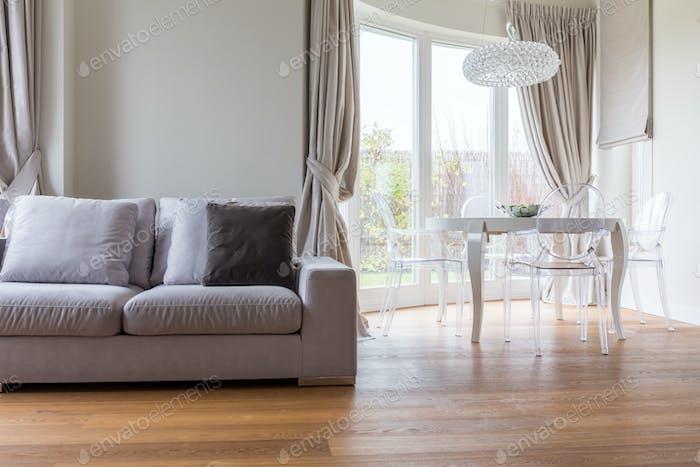 Comfortable sofa in lounge
