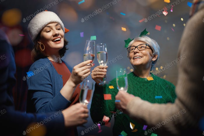 People are having fun and celebrating holidays.