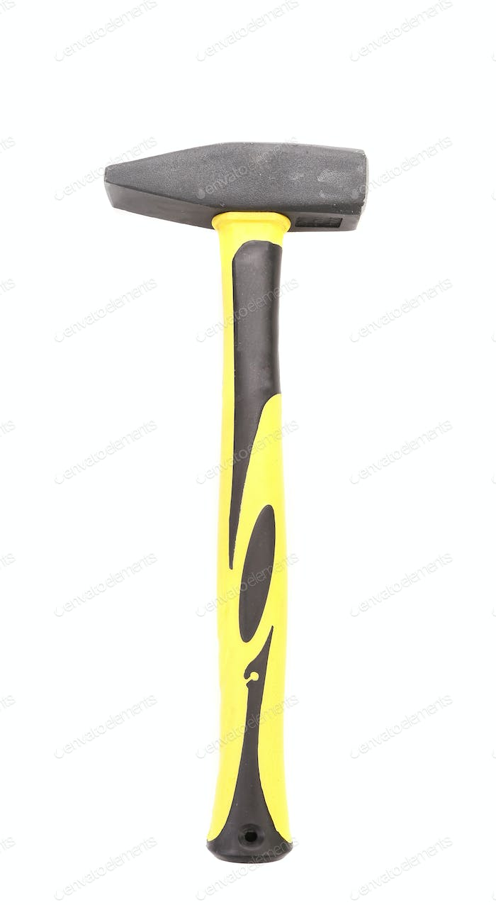 Yellow work hammer.