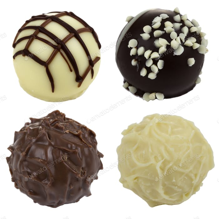 Four candies chocolate