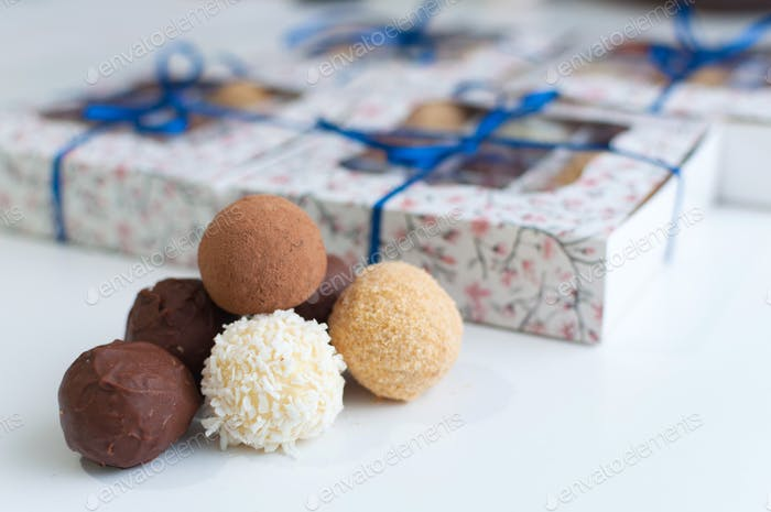 Different Chocolate Truffles of Cacao