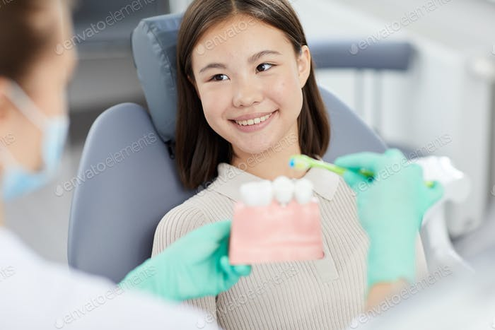 Smiling Little Girl at Dentists