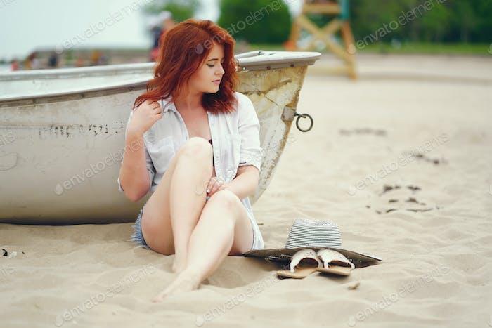 pretty girl in a beach