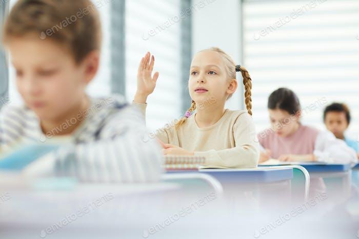 Schoolgirl Asking Question