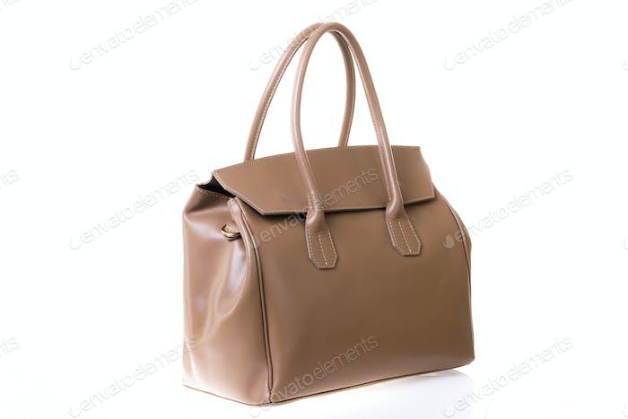 Women's handbag on a white background