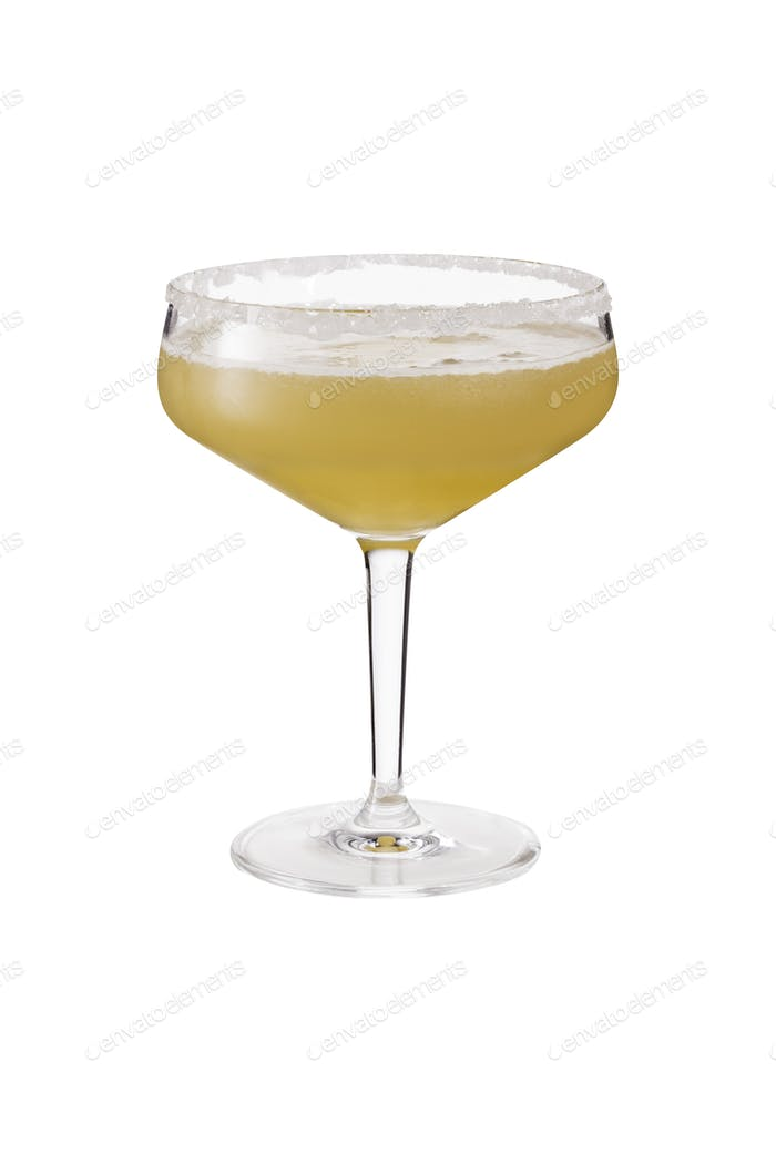 Refreshing Orange Sidecar Cocktail on White