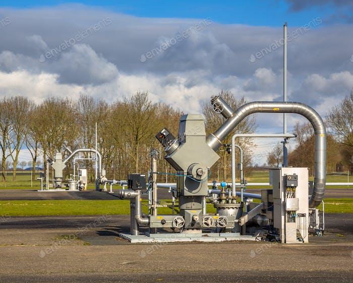 Brunnen mit fossilen Brennstoffen