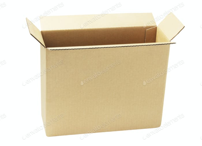 Open Brown Paper Box