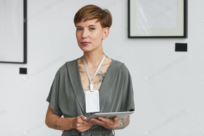 Portrait of Female Art Gallery Manager