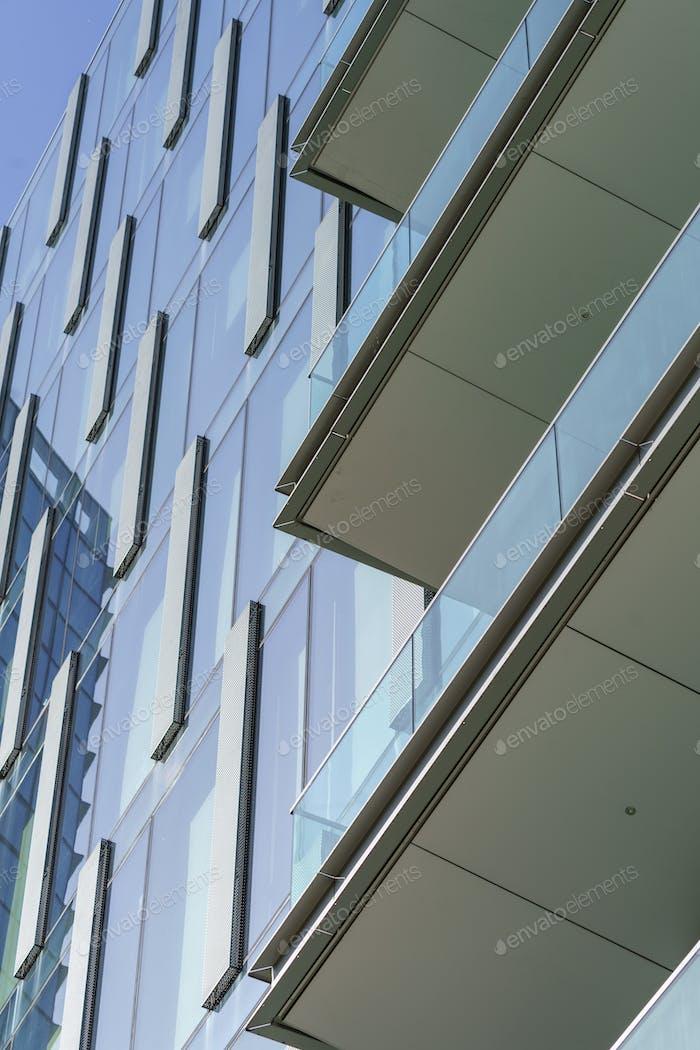 Modern buildings of Alvar Aalto square in Milan, Italy