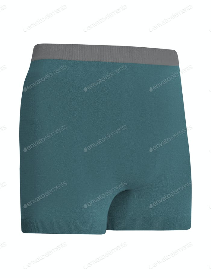 Blue Running Shorts isolated on white background