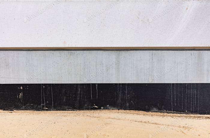 Concrete wall foundation background.