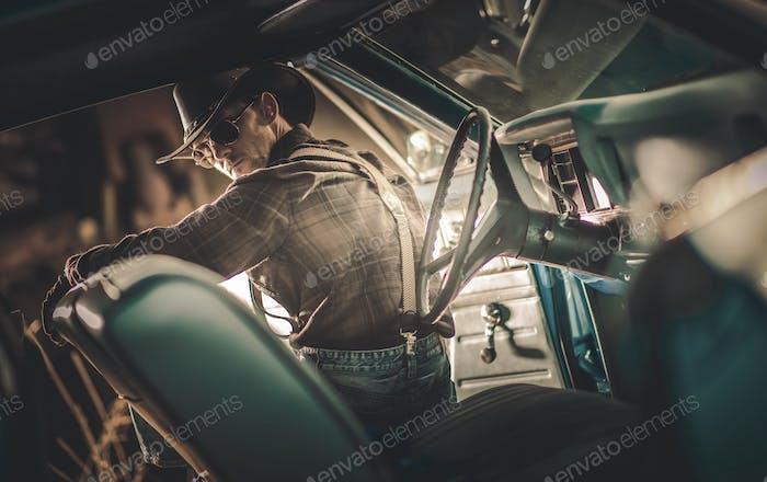 Amerikanischer Cowboy-Fahrer