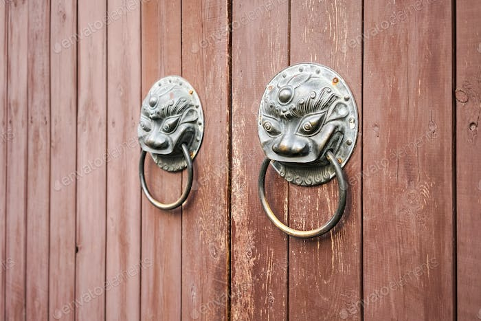 traditional knocker closeup