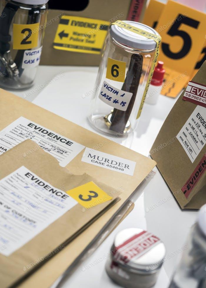 Criminalistic Lab, victim clock analysis for murder, conceptual image