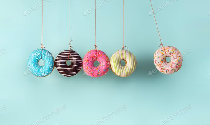 Collision balls made from donuts