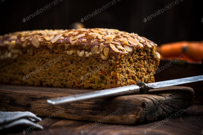 Easter healthy homemade carrot cake