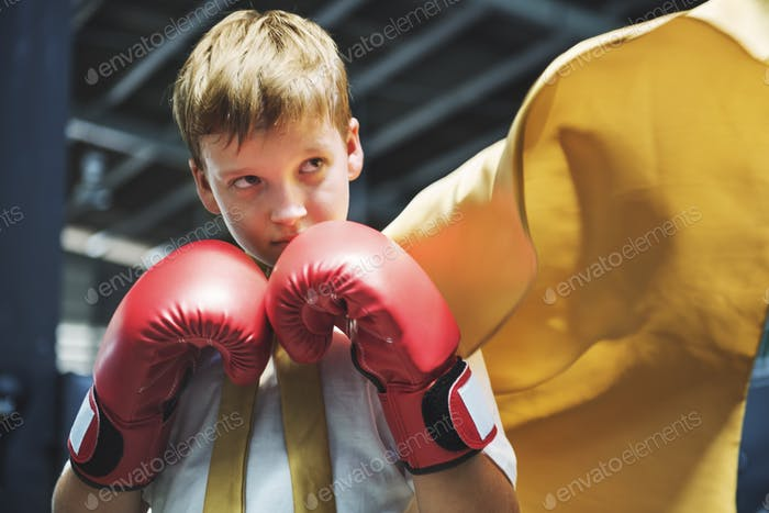 Superhero Champion Boxer Boy Strength Fighter Concept