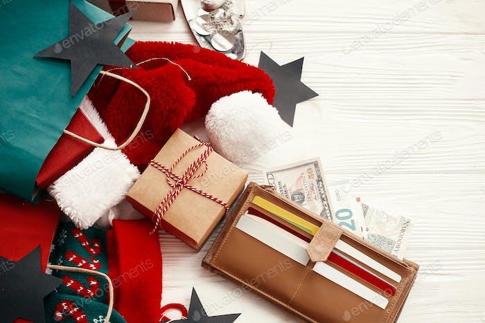 Weihnachtsverkaufs- und Einkaufskonzept