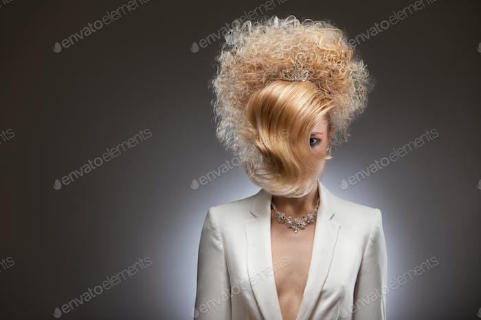 Curly tress.