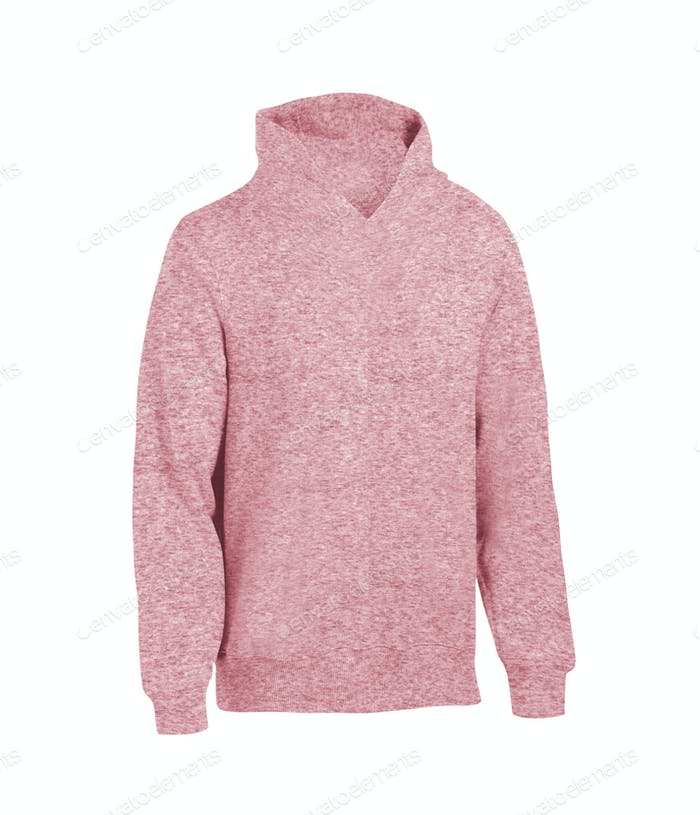 Pink hoodie isolated on white background