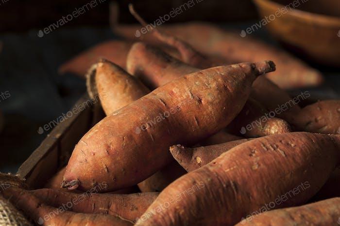 Raw Organic Sweet Potatoes