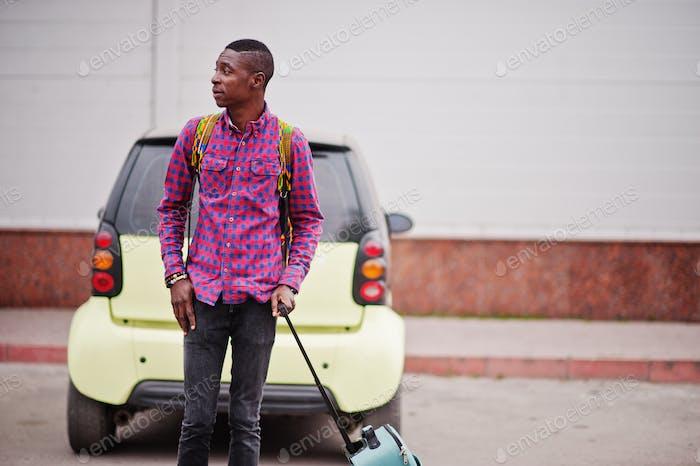 Black man traveler