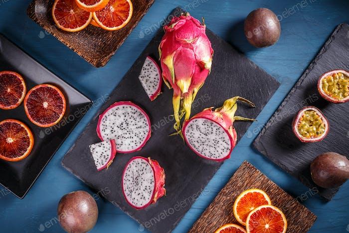 Tropical fruit concept