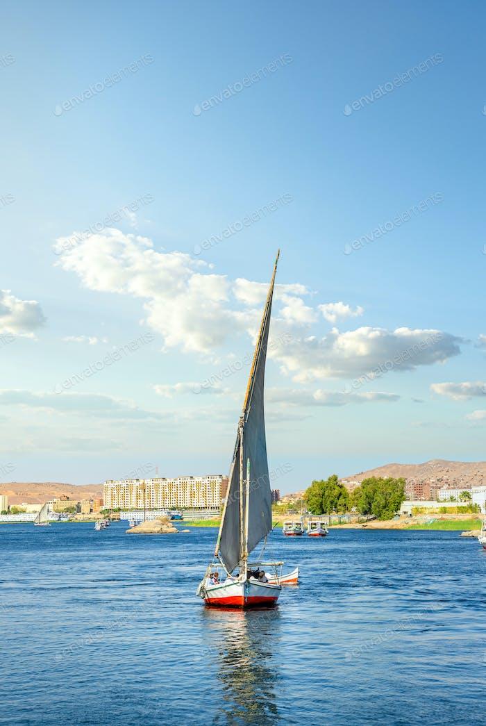 Segelboot auf dem Nil