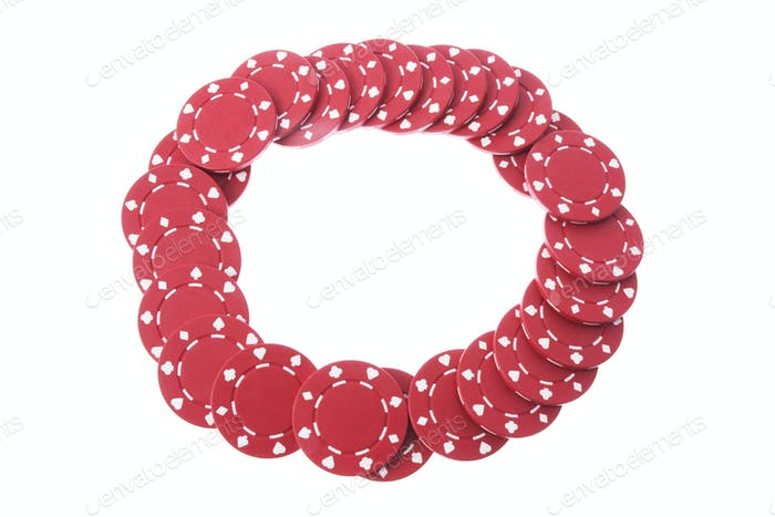 Poker Chips Arranged in Circle